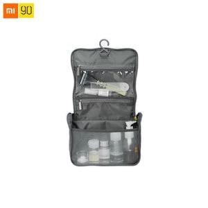 Image 1 - Xiaomi Mijia 90Fun borsa da viaggio tessuto di Nylon portatile idrorepellente grande apertura a forma di U appeso Design mezza rete borsa di stoccaggio