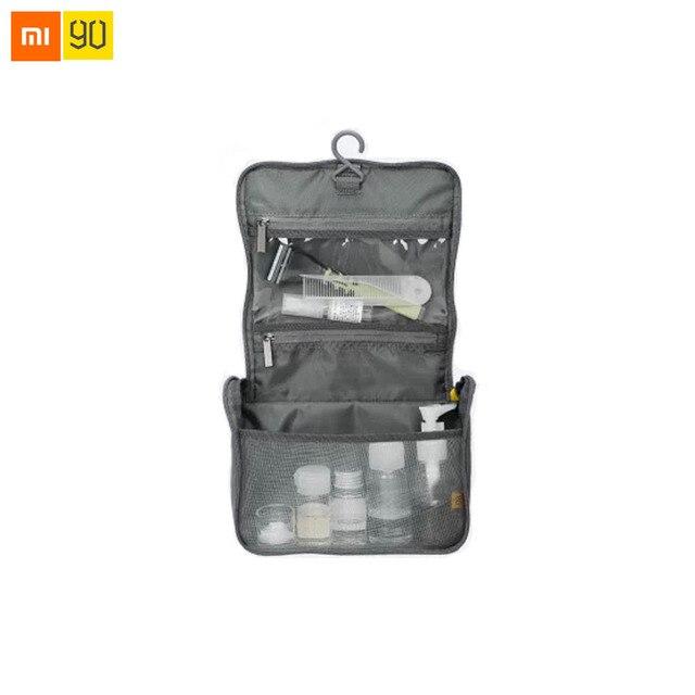 Xiaomi Mijia 90Fun borsa da viaggio tessuto di Nylon portatile idrorepellente grande apertura a forma di U appeso Design mezza rete borsa di stoccaggio