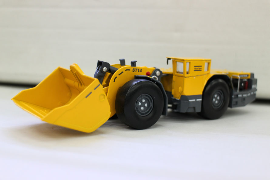 Modèle en alliage 1:50 Atlas Copco Scooptram ST14 chargeur de Tunnel machines d'ingénierie moulé sous pression modèle de jouet pour la décoration de la Collection