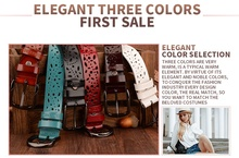 COWATHER New 2018 genuine leather jeans belts for Women Hollow pressed flower luxury strap