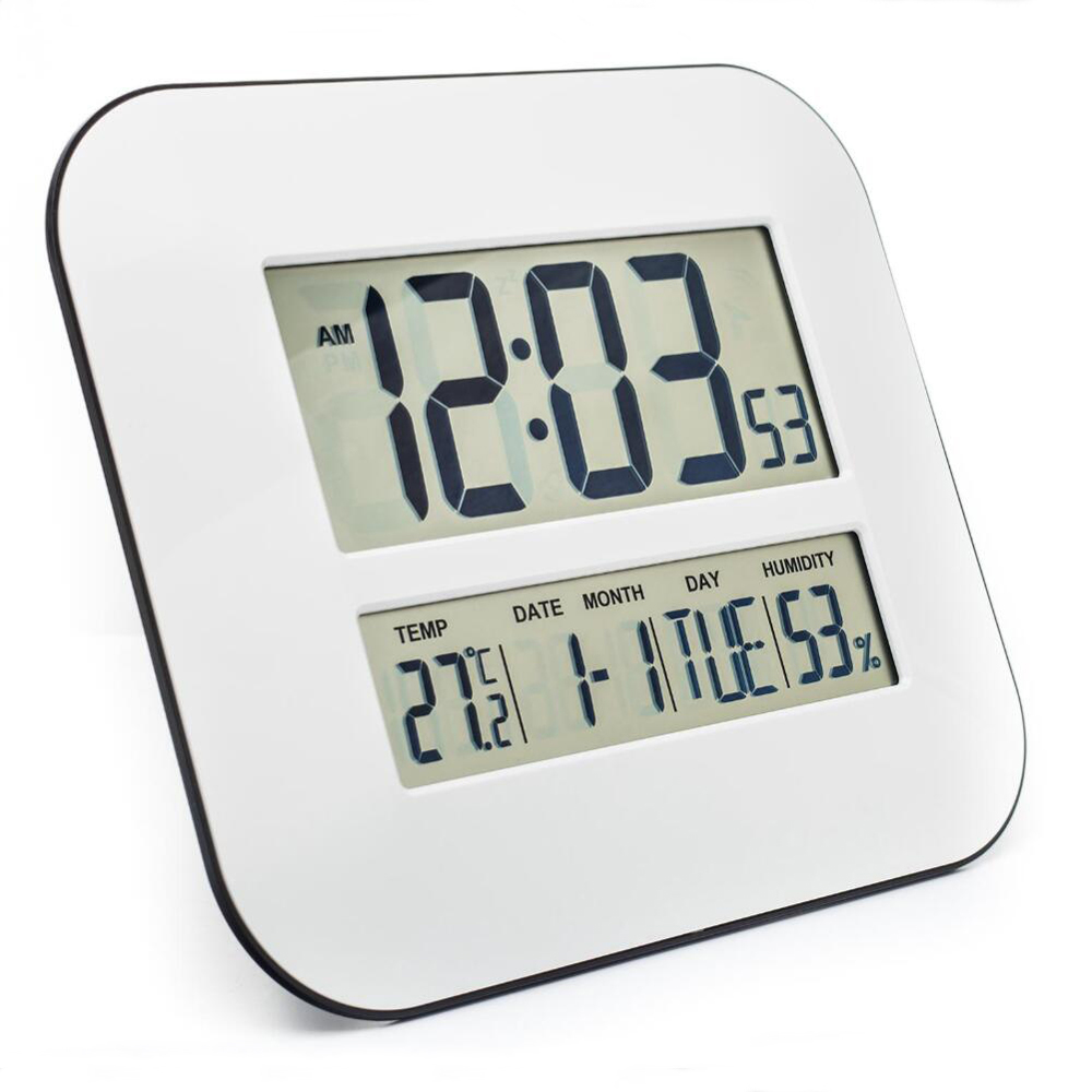 Big number lcd digital wall clock table desktop alarm clock with big number lcd digital wall clock table desktop alarm clock with temperature thermometer humidity hygrometer snooze calendar in wall clocks from home amipublicfo Choice Image