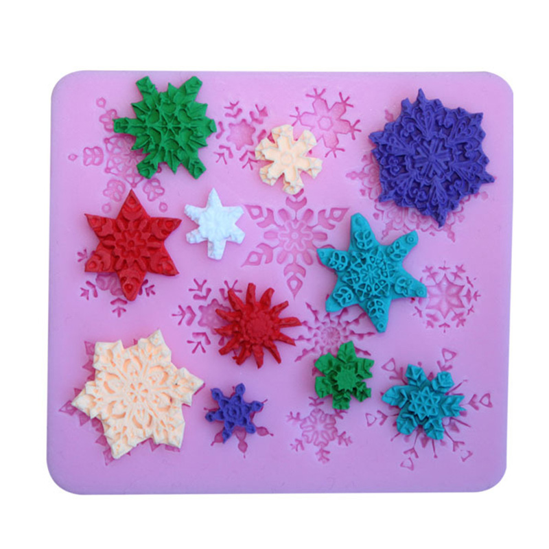 Silicone Cookies Chocolate Cake Mold Snowflake Kitchen Decoration Cakes Backing Tools Molding Kitchenware Cute Tool