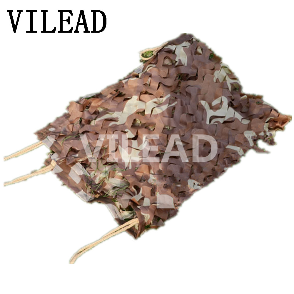 VILEAD 2M x 10M (6.5FT x 33FT) Desert Digital Camo Netting Military Army Camouflage Net Jungle Shelter for Hunting Camping Tent vilead 5m x 8m 16 5ft x 26ft desert military army camouflage net digital camo netting jungle sun shelter for hunting camping