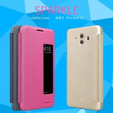 Leather Case for Huawei mate 10 NILLKIN sparkle PU leather f