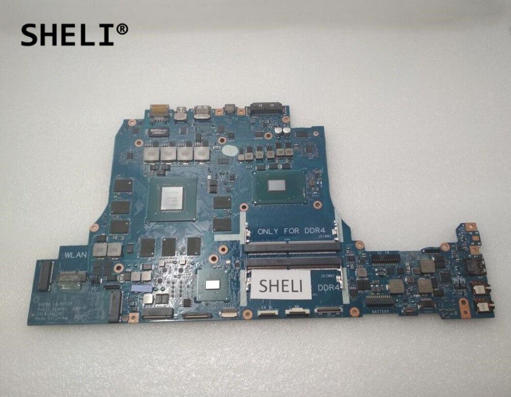 SHELI LA-D753P For Dell Alien-ware 17 R4 Motherboard With I7-6820HK GTX1080 8GB BAP20