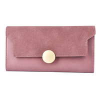 Fashion Women Wallets Fashion Nubuck Leather Dollar Price Leather Purse High Quality Wallets Brands Purse Female
