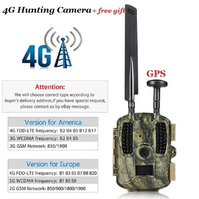Hunting Camera GPS 4G Scout Guard Night Vision Hunter Camera Chasse Infrared Game Wild Trail Foto Traps Camara De Caza Chasse 2