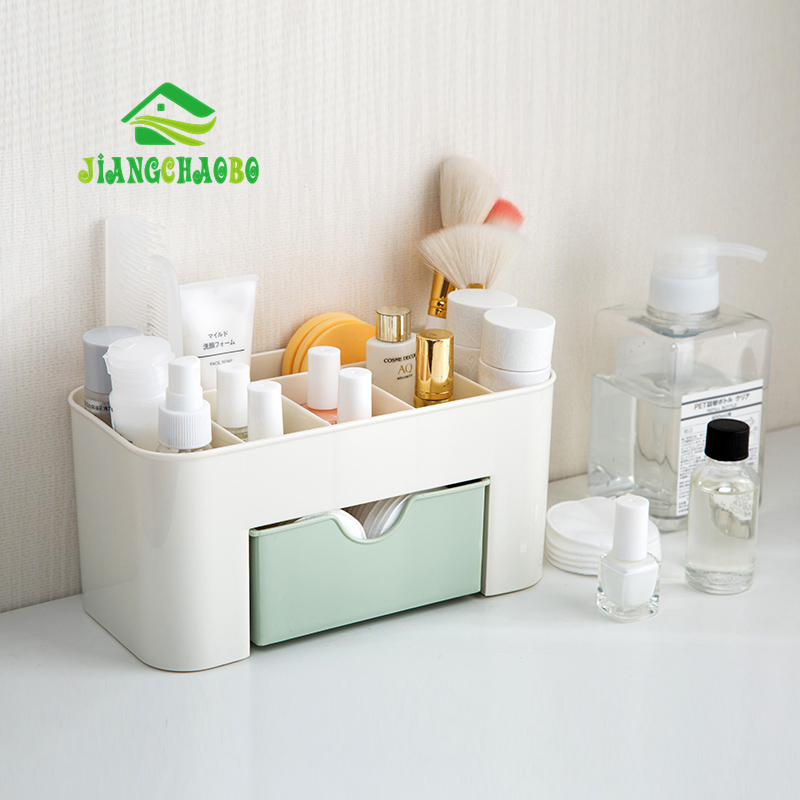 JiangChaoBo Drawer Cosmetic Storage Box Makeup Brush Finishing Box Desktop Jewelry Skin Care Product Dividing Makeup Box