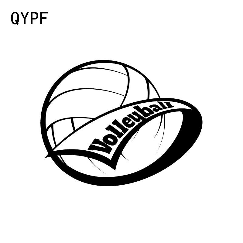 QYPF 13.3*10.4CM Fashion Volleyball Sport Beach Ball Decor Car Sticker High Quality Vinyl C16-1375