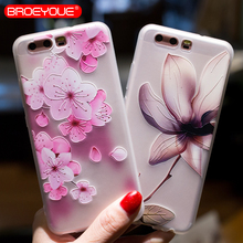 BROEYOUE Case For Huawei P10 P20 P9 P8 Lite 3D Relief Soft Silicone Back Cover Cases For Huawei P10 Lite Cell Phone Case Fundas phone cases for huawei p9 lite 3d cute cartoon plants cactus soft silicone back cover capa for huawei ascend p9 p9lite fundas