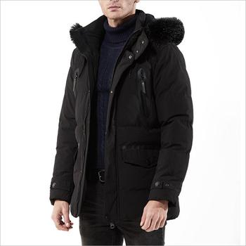 Men Winter Hooded Down Jackets Black Loose Winter Parkas New Fashion Men Outwear Casual Winter Coats Thicker Warm Down Jackets