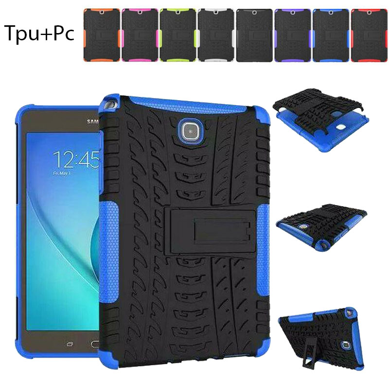 Shockproof Case for Samsung Galaxy tab 8.0 Cover,Hybird TPU+PC Kickstand Cover for Samsung Galaxy Tab A 8.0 T350 P350 T351 T355 lovemei shockproof gorilla glass metal case for galaxy note4 n9100