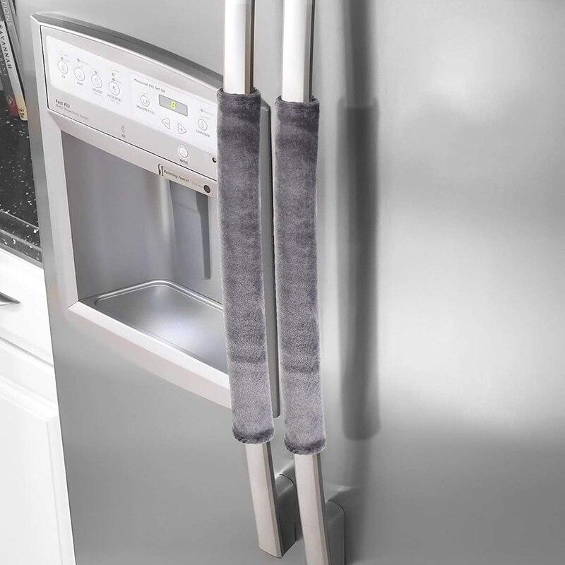 Keep Off Fingerprints Refrigerator Handle Cover Decor Handles Kitchen Appliance Antiskid Protector Gloves for Fridge Oven