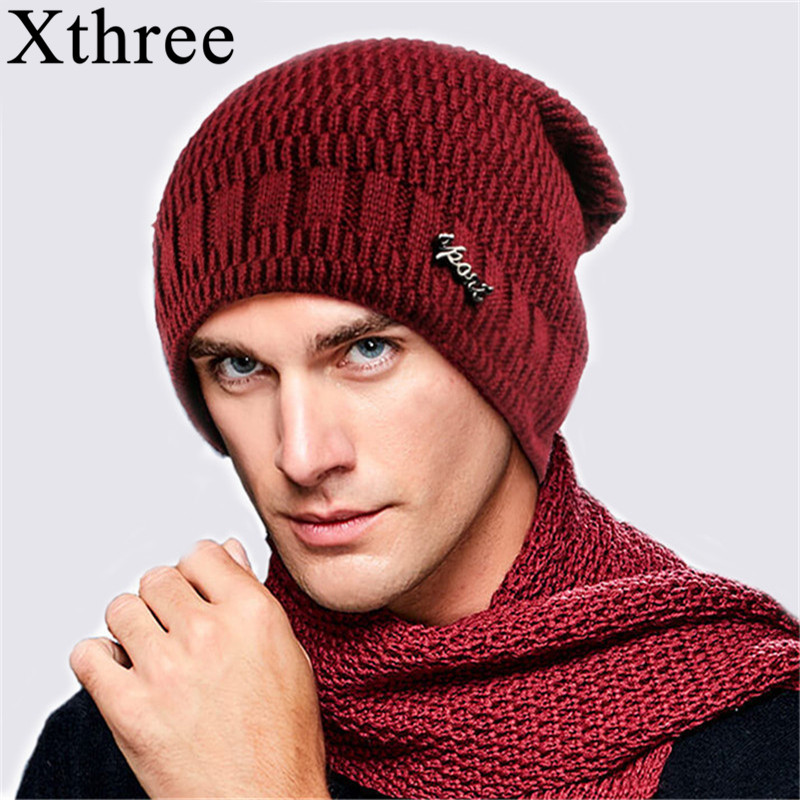 Xthree Winter Hat Skullies Bonnet-Caps Beanies Knitted Wool Warm Women Baggy-Brand Fur