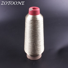 ZOTOONE Sewing Thread Polyester Supplies Metallic Gold Embroidery Wholesale For Jeans Clothes DIY Handmade
