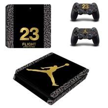 Air Jordan PS4 тонкий кожи Стикеры Наклейка виниловая для Playstation 4 консоли и 2 контроллеры PS4 тонкий кожи Стикеры