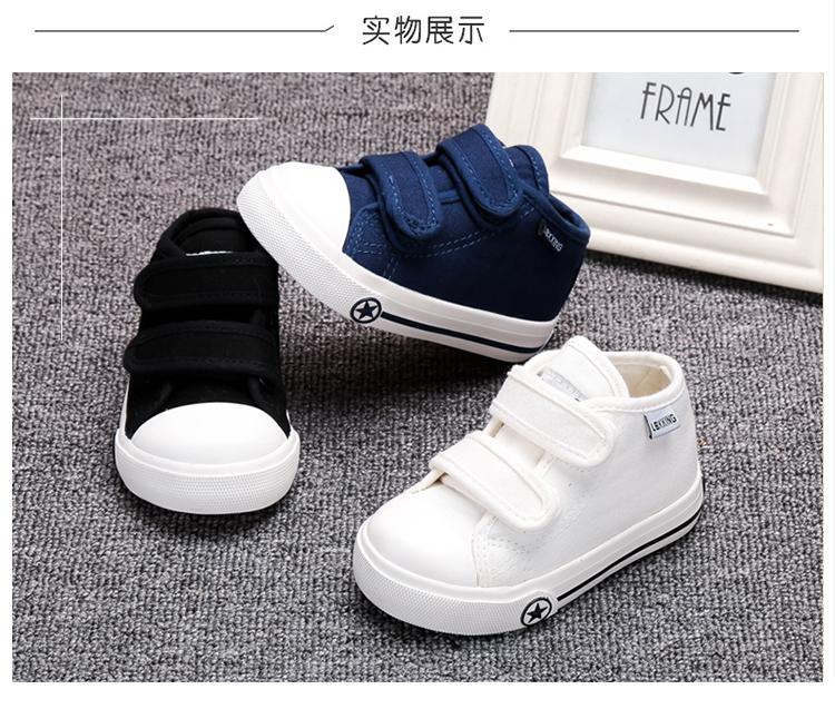 LABIXIAOXING Baby White Canvas Shoes 4 Colors kids Baby Girls and Boys Casual Shoes Flat and Durable Sneakers 5