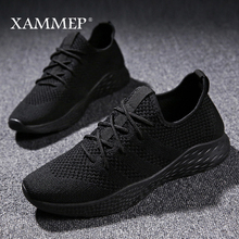 Men Casual Shoes Men Sneakers Brand Men Shoes Male Mesh Flats Loafers Slip On Big Size Breathable Spring Autumn Winter Xammep(China)