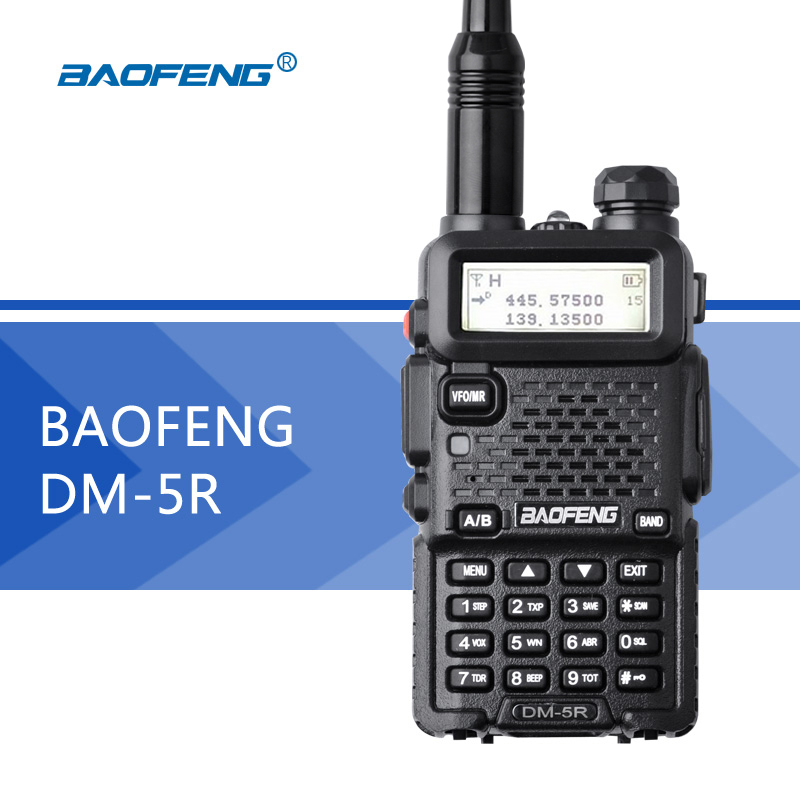 Baofeng DM-5R DSP Walkie Talkie Dual Band DMR UV5R Digital Radio 128CH VOX Flashlight Portable Ham Radio 2000mAh Two-way RadioBaofeng DM-5R DSP Walkie Talkie Dual Band DMR UV5R Digital Radio 128CH VOX Flashlight Portable Ham Radio 2000mAh Two-way Radio
