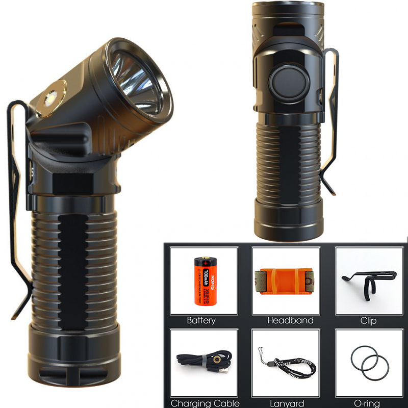Rofis R1 Adjustable-head Flashlight CREE XM-L2 U2 LED MAX. 900LM Magnetic USB torch adjustable head light + 700mAh battery 3800 lumens cree xm l t6 5 modes led tactical flashlight torch waterproof lamp torch hunting flash light lantern for camping z93