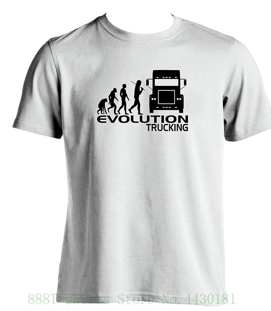 Evolution Trucking Man Fancy T For Slogan Gift Ideas A Driver Truck Cab Accessories No Drivers Birthday