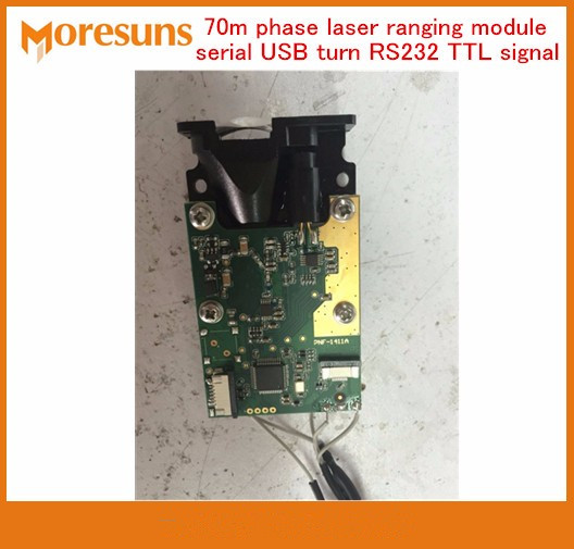 Fast Free Shipping 70m phase laser ranging module digital sensors range finding serial USB turn RS232 TTL signal laser sensor