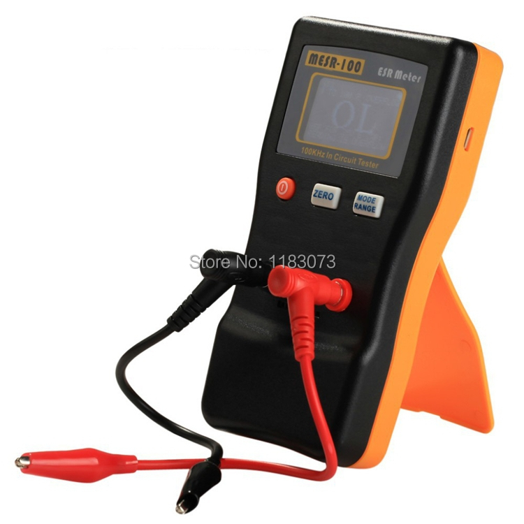 Professional Digital ESR Capacitance Resistance Meter Auto Display LCD 100 KHz In Circuit Tester Capacitance Capacitor Test
