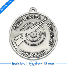 Customized Antique silver Stamping Souvenir Medal cheap custom sports medals