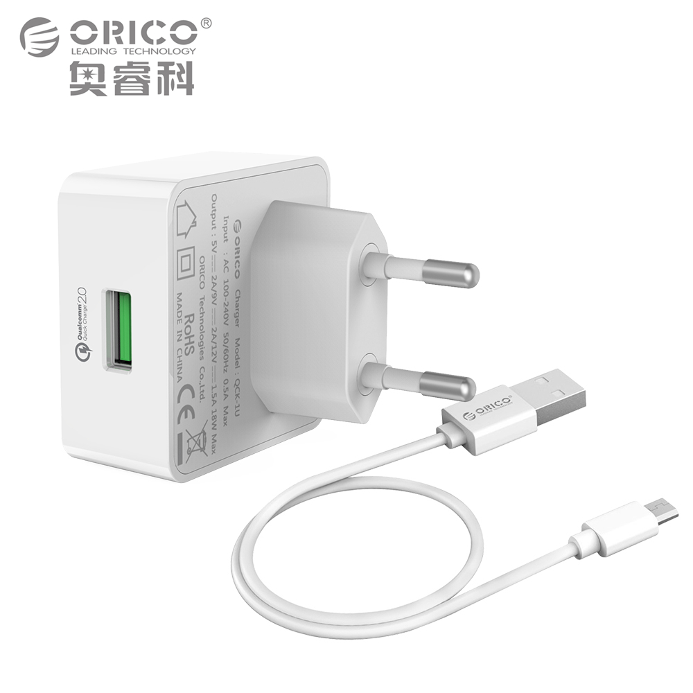 ORICO Quick Charge QC2.0 Rapid USB Wall Charger with Free Micro Cable for for Samsung S5 S6 LG G4 Xiaomi...  samsung rapid charger | Samsung Galaxy Note 4 Tip:  Quick Charging ORICO Quick Charge QC2 0 font b Rapid b font USB Wall font b Charger b