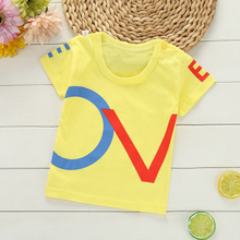 Summer Kids Boys T Shirt Cartoon Print Short Sleeve Baby Girls T-Shirts Cotton Children's T-Shirt Round Neck Tee Tops Boys summer lovely baby boys short sleeve t shirt kids striped turtleneck neck tee tops polo shirt tops for 2 7 years teens