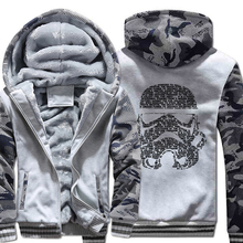 2019 star war winter brand clothing men hoodies hooded jackets coats mans hip hop wool liner streetwear fashion sweatshirts man