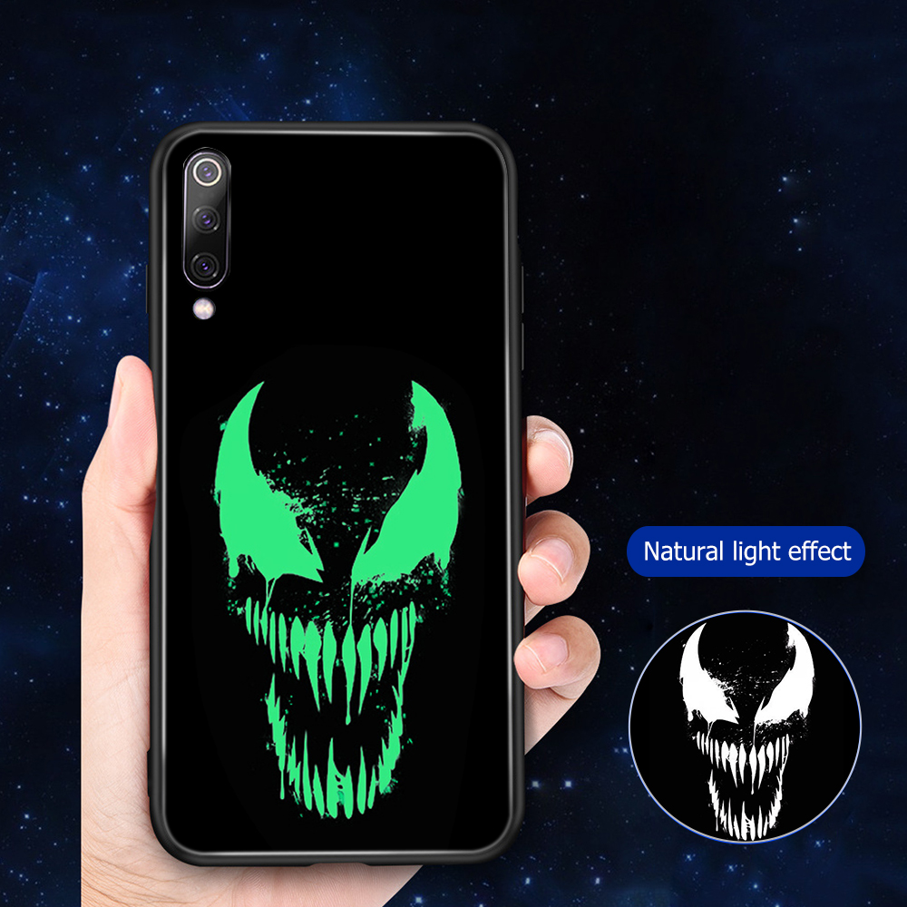 Image 5 - ciciber For Xiaomi MI 9 8 A2 6X T MIX 2 2S PocoPhone F1 Glass Phone Cases for Redmi Note 7 8 6 Pro Plus Cover Coque Marvel Venom-in Fitted Cases from Cellphones & Telecommunications