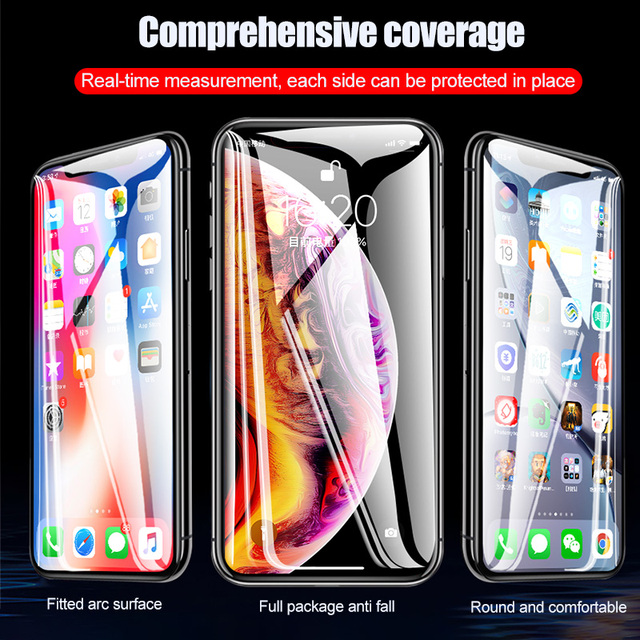 100D Curved Edge Full Cover Protective Glass On The For iPhone 7 8 6 6S Plus Tempered Screen Protector iPhone X XR XS Max Glass 4