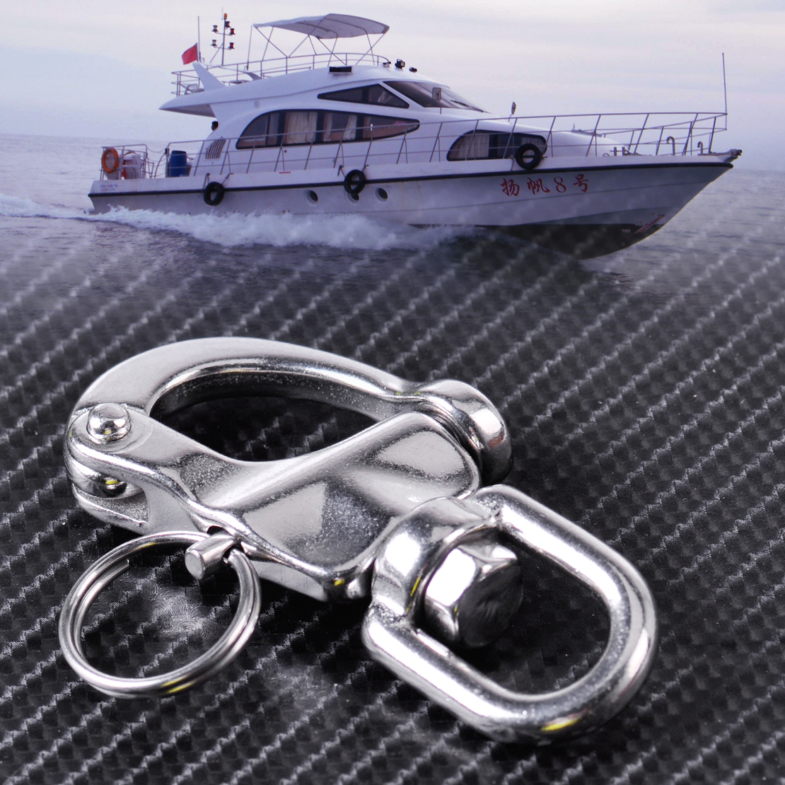 New Stainless Steel Heavy Duty Snap Shackle D Ring Swivel Bail Marine Boat Yacht Sailing Hardware