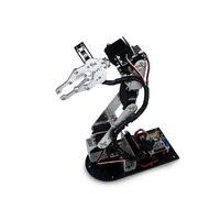 Промышленный робот 625 механическая рука 100% сплав манипулятор 6 градусов рука робота стойки с 6 шт. LD 1501MG сервоприводы + 1 сплав захват