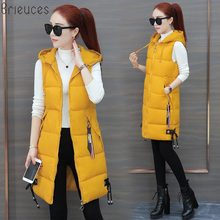 Brieuces 2019 Women Winter Vest Casual Autumn Warm Thicken Long Sleeveless Waistcoat Female Cotton Padded Jacket S-3XL