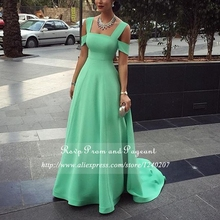 Cheap Floor Length Gowns Long Elegant Prom Dresses 215 Square Neck Chiffon A-line Sweep Train Prom Dress