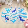 Anti-slip PVC Transparente Golfinhos Padrão Bath Shower Banheira Ventosas tapete Tapete do Assoalho Para O Bebê Higiênico Criança Banheiro Tapete Do Assoalho esteiras