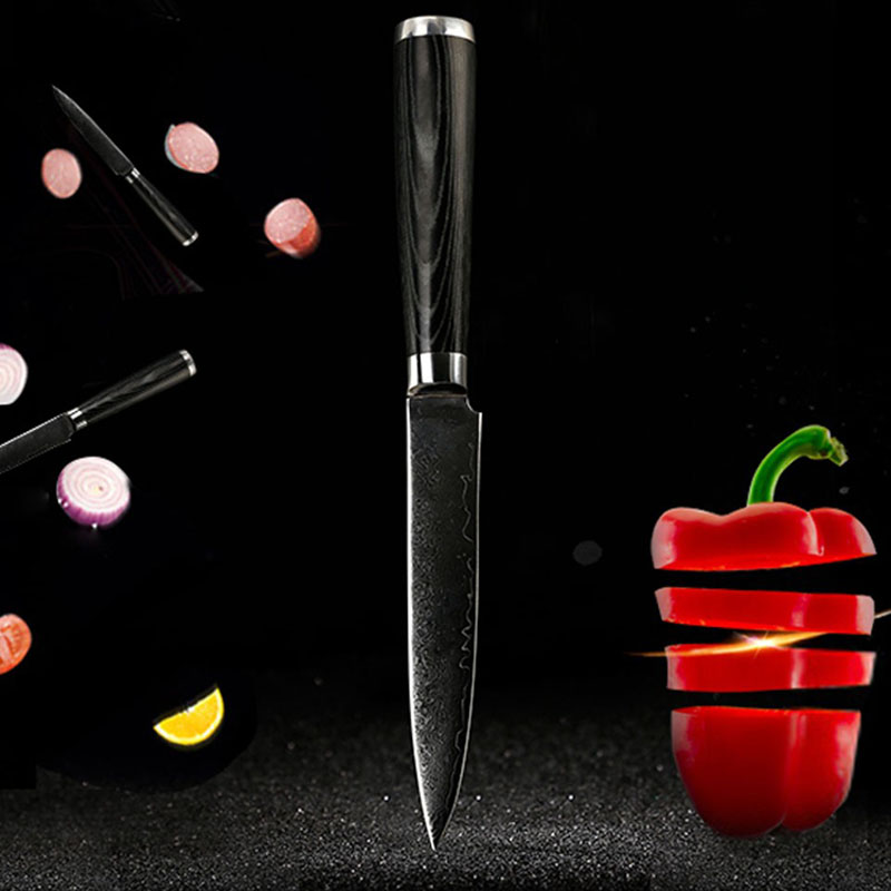 2016 7 Stainless Steel Damascus Steel Kitchen Chef font b Knife b font multifunctional Janpanese Fruit