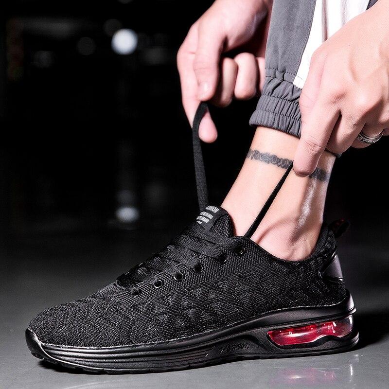2019 Plus La Taille 45 46 47 Max Hommes Sneakers Femmes Chaussures de Course Mesh Respirant Lumière Air Sport Jogging Requin Femelle vague 90 Homme