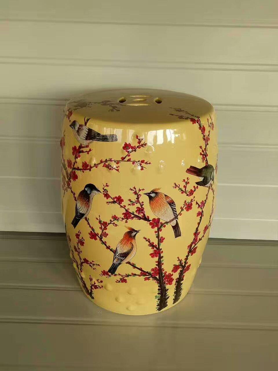 Hand painted living room Jindezhen dressing ceramic garden stool ...