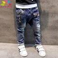 Enbaba мальчиков джинсы брюки 2016 зима способа высокого качества дети джинсы для мальчиков одежда брюки джинсовые молнии детей брюки