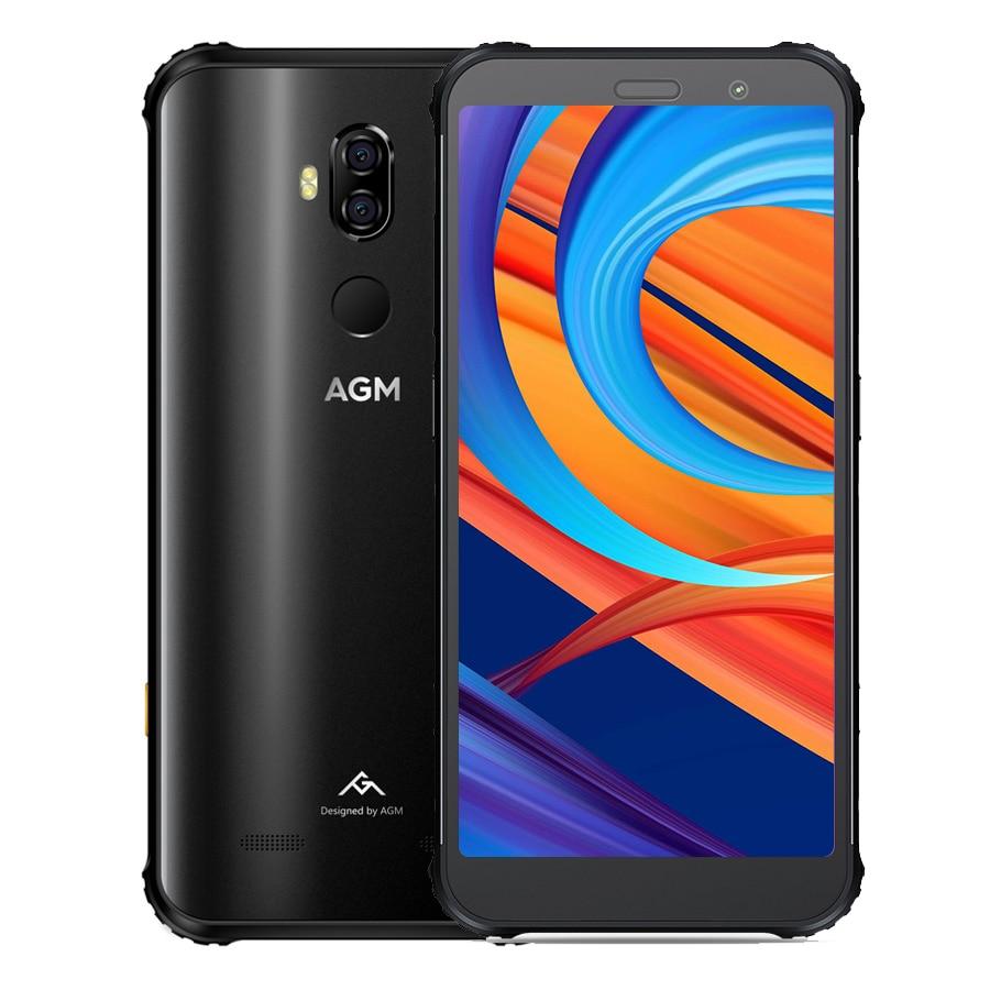 AGM X3 8 GB 256 GB SmartPhone 5.99 FHD 18:9 Snapdragon 845 Octa Core 20MP + 24MP Android 8.1 OTG NFC IP68 étanche 4G téléphone portable