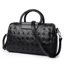Fashion patchwork Schaffell taschen handtaschen frauen berühmte marken luxus handtaschenfrauen-designer 2017 Neue Boston Umhängetaschen