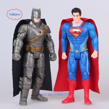 New 2pcs/set  Movie Batman V Superman: Dawn of Justice Shine Mini Action Toy Figures Model for Decoration And Collection