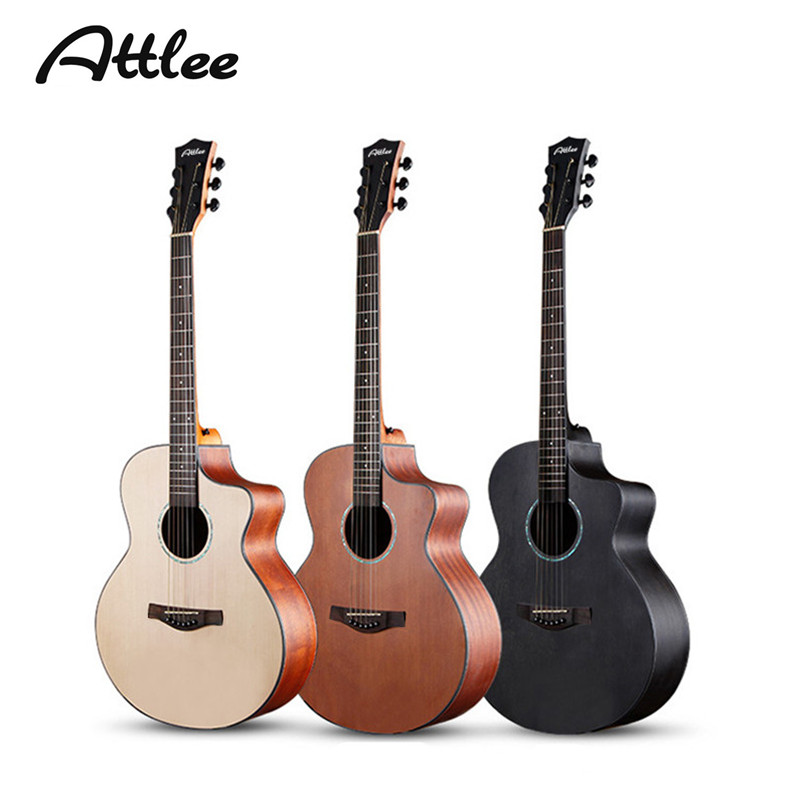 41 inch Acoustic Guitar Picea Asperata solid Body Mahogany Plywood Back Side Rosewood Fingerboard Guitar Strings