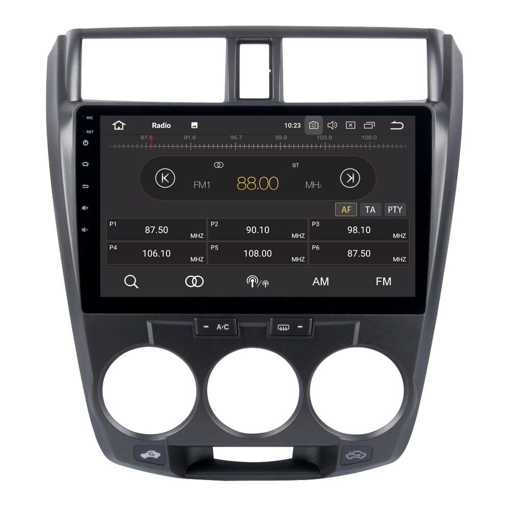 Android 8,0 автомобильный мультимедийный плеер для Honda City 2008 2012 Восьмиядерный Авторадио Bluetooth Радио Стерео gps навигация медиа