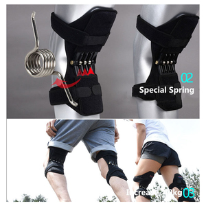 Image 3 - Gemeinsame Unterstützung Knie Pads Atmungsaktive Power Lift Gemeinsame Unterstützung Bandage Knie Pad Power Knie Stabilisator Pads Frühling Kraft Knie Booste