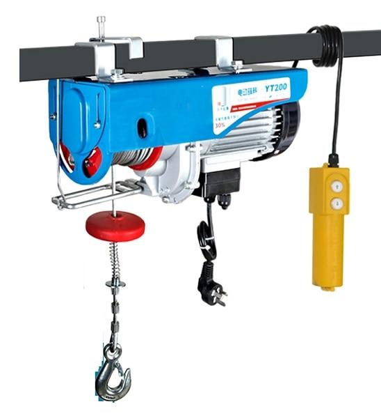 880lbs Mini Electric Wire Hoist Remote Control Garage Auto Shop Overhead Lift MX