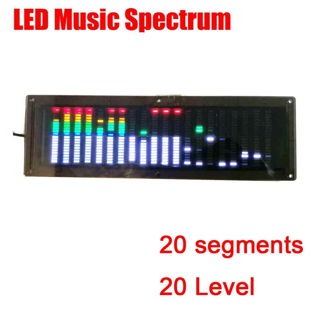 LED color music level rhythm light Spectrum display car voice-controlled car diy